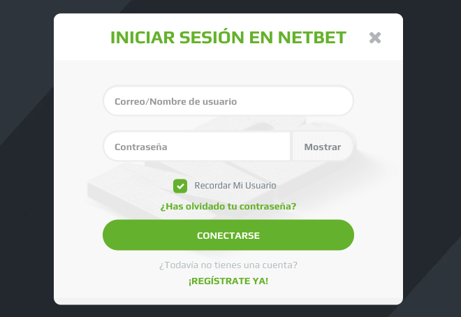 NetBet mexico registar