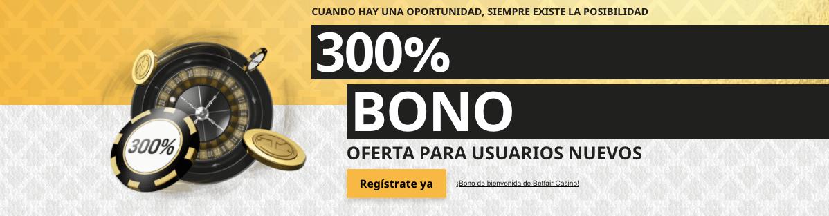 Betfair Casino Mx Bono de bienvenida
