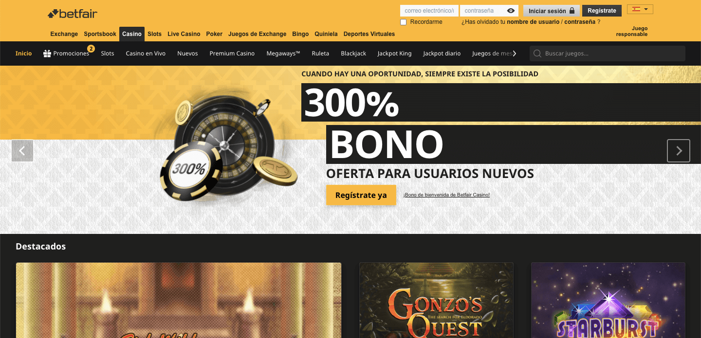 Betfair Casino Mx